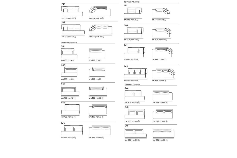 Wazaa new spec sheet 3 Wazaa new spec sheet 3.jpg Wazaa Sofa%5F By Amura%5F Designed by Stefano Bigi%5FInformal Modular options%5F Sinewy Lines%5F Fifties taste%5F Leather or fabric options