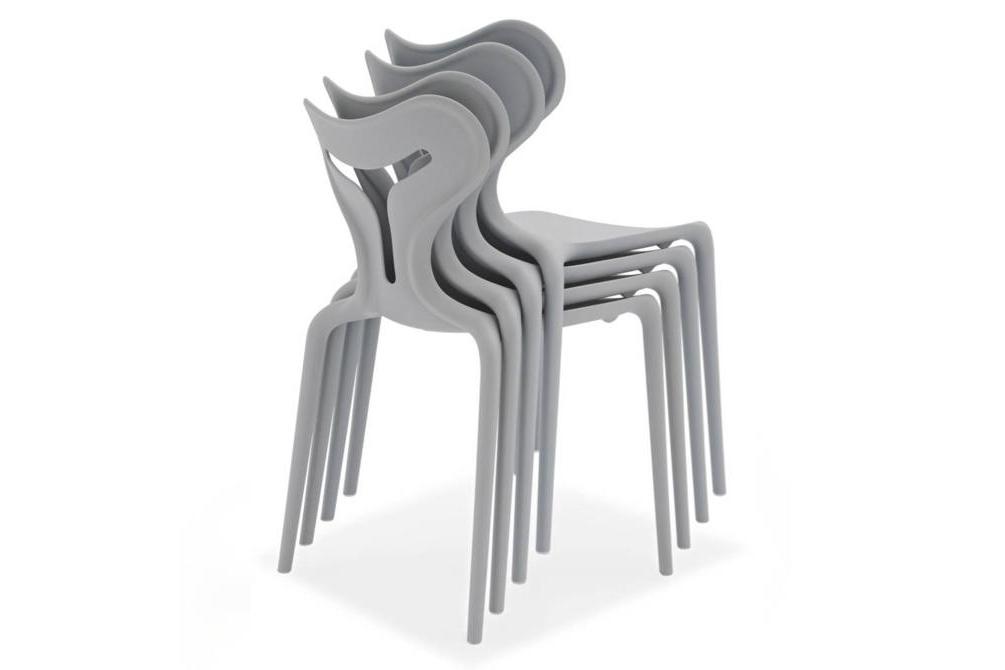 calligaris area 51 grey stack outdoor chair Calligaris Area 51 Outdoor dining chairs