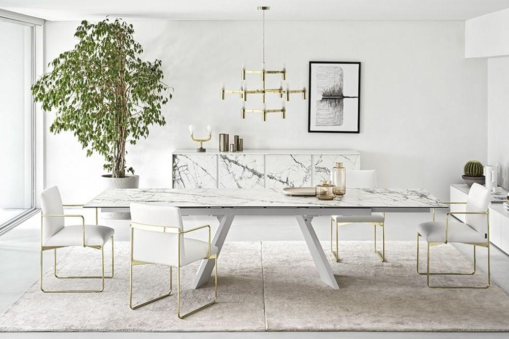 Icaro%202.jpg Icaro Table_ By Calligaris_ Designed by Busetti, Garuti, Redaelli_Extension table_ Veneered wood base_ Wood or ceramic top_ Two side extension leave_ Easy mechanism Icaro%202.jpg