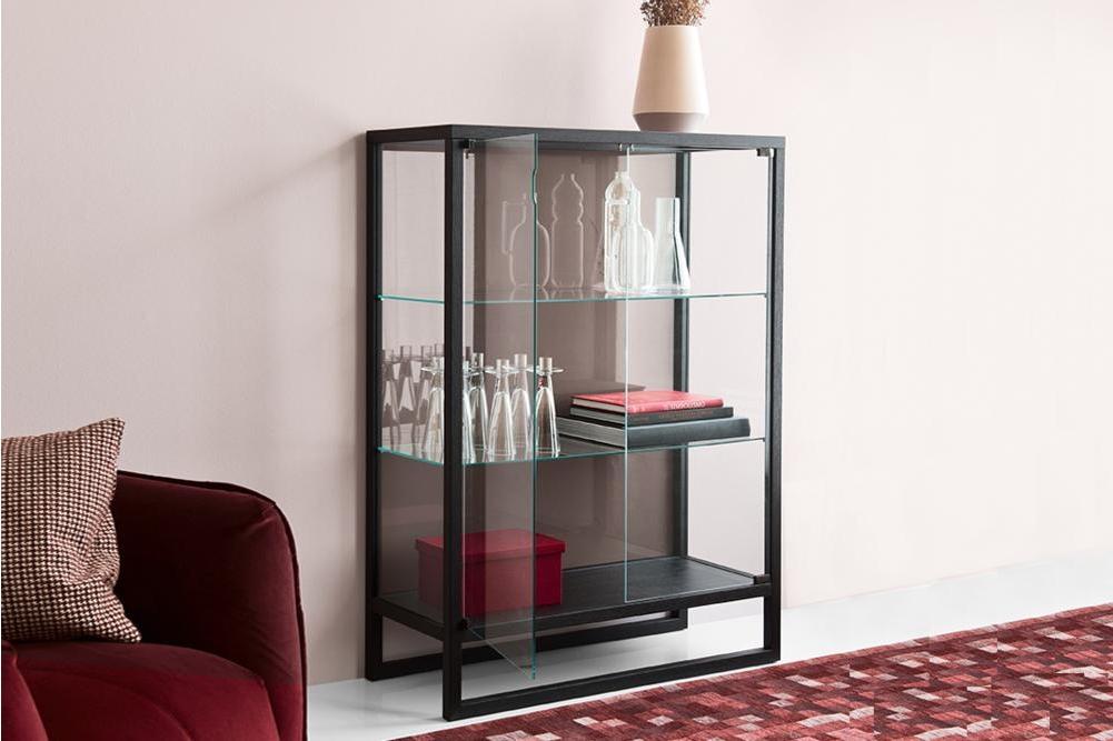 Teca Storage Unit Calligaris cs6056 1 P15L GTG 7186 Teca Shelf Unit - cs6056 - Calligaris - Grey Glass Teca Shelf Unit - cs6056 - Calligaris - Grey Glass Storage - Elegant Shelf