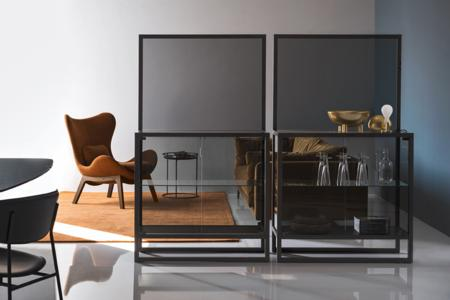 Teca Tall Storage Units Calligaris cs6056 1 P15L GTG cs3373 W P12 SW7 Teca Shelf Unit - cs6056 - Calligaris - Grey Glass Teca Shelf Unit - cs6056 - Calligaris - Grey Glass Storage - Elegant Shelf