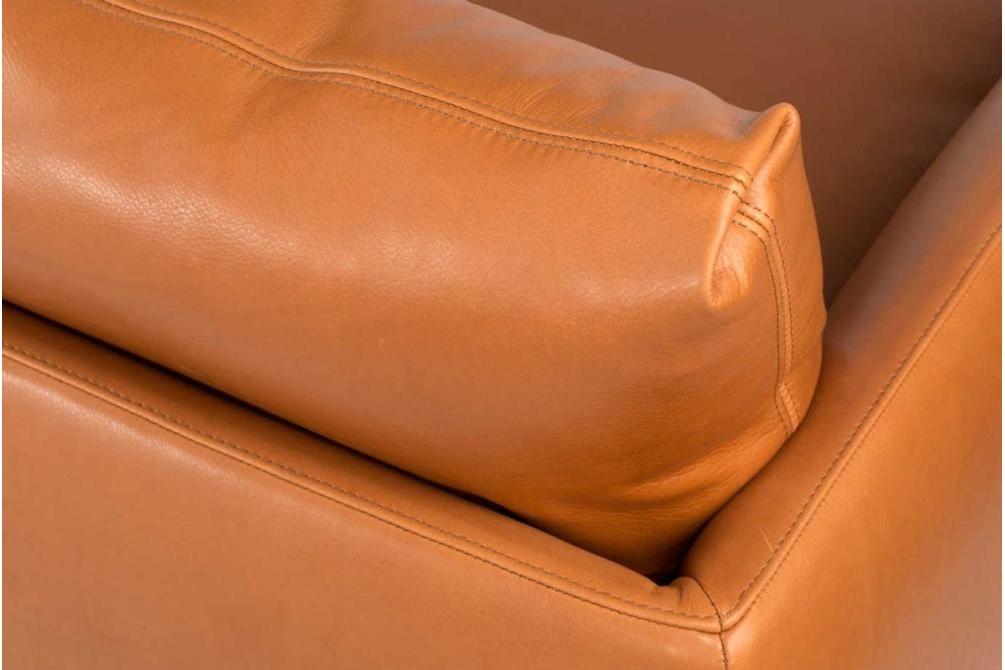 Mavis Tan Leather Sofa Stitching Detail Mavis Sofa Range Italian Amura Mavis Sofa Range Italian Amura