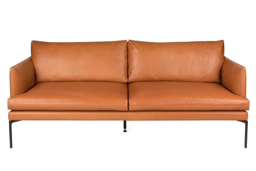 Mavis Tan Leather Sofa Front Mavis Sofa Range Italian Amura Mavis Sofa Range Italian Amura