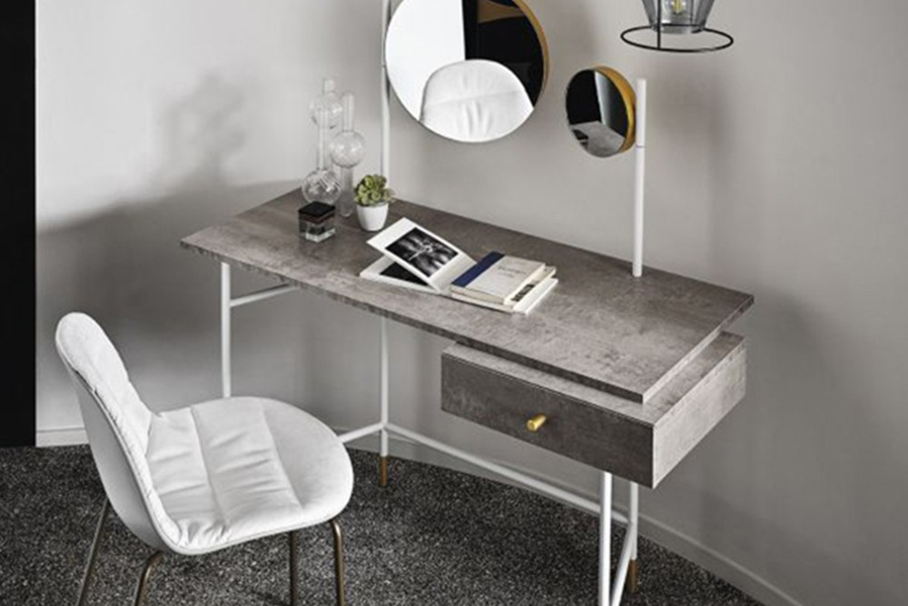 Vanity%201.jpg Vanity Desk_ By Bontempi Casa_Desk with Paper holder_Lacquered metal frame_decorative feet, drawer handle, mirror and light Vanity%201.jpg
