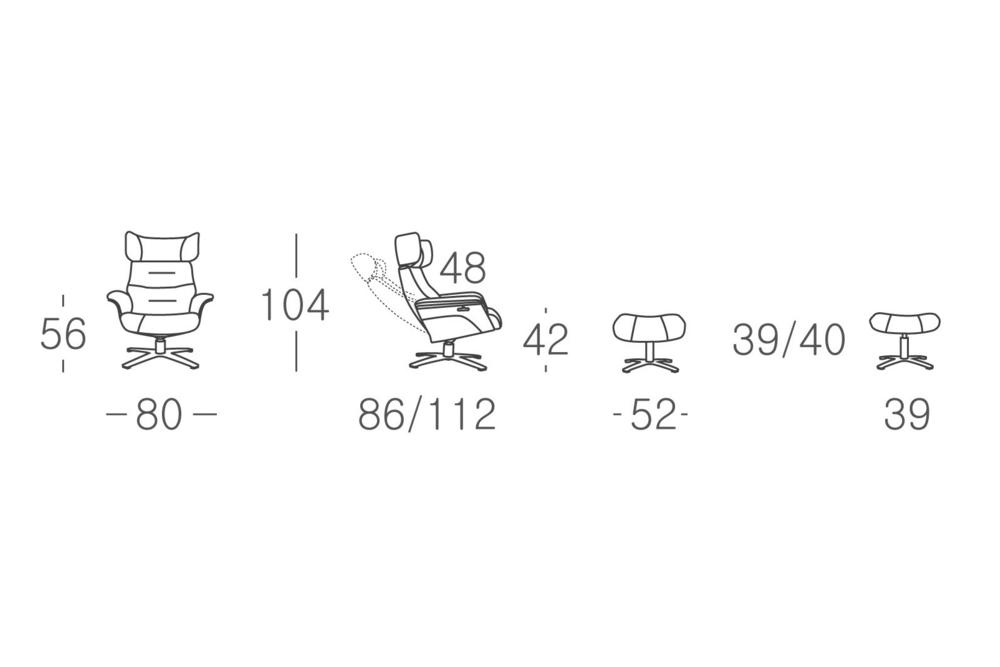 A969 3 Norris recliner Norris recliner