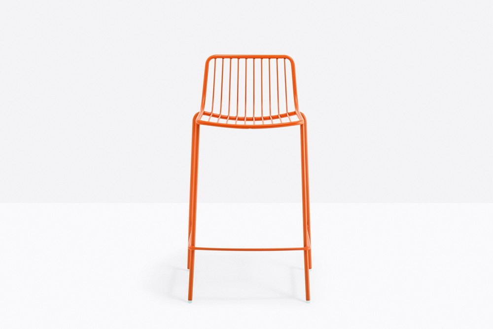 Nolita 3657 01 zoom.jpg Nolita Stool_By Pedrali_Made in italy_ By CMP Design_outdoor seatings_metal garden chairs_Barstool with steel tube frame powder coated for outdoor use_ Seat height 650 mm. Nolita 3657 01 zoom.jpg