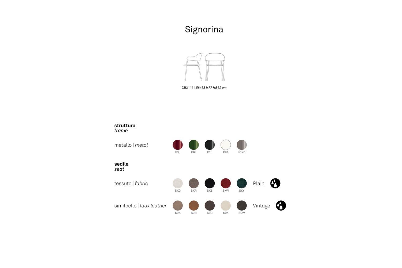 schematic Signorina chait connubia schematic Signorina chait connubia .png connubia schematic dining armchair seating 2020