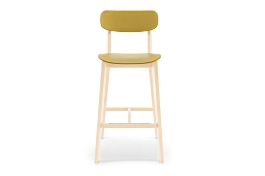 cream stool mustard front Calligaris cream stools, Sextans lamp