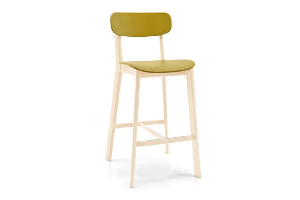 cream stool mustard angle Calligaris cream stools, Sextans lamp