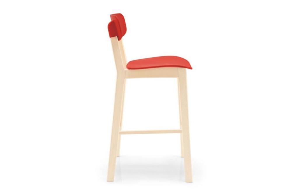 cream stool red side Calligaris cream stools, Sextans lamp