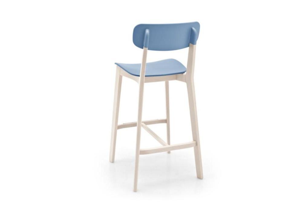 cream stool blue back Calligaris cream stools, Sextans lamp