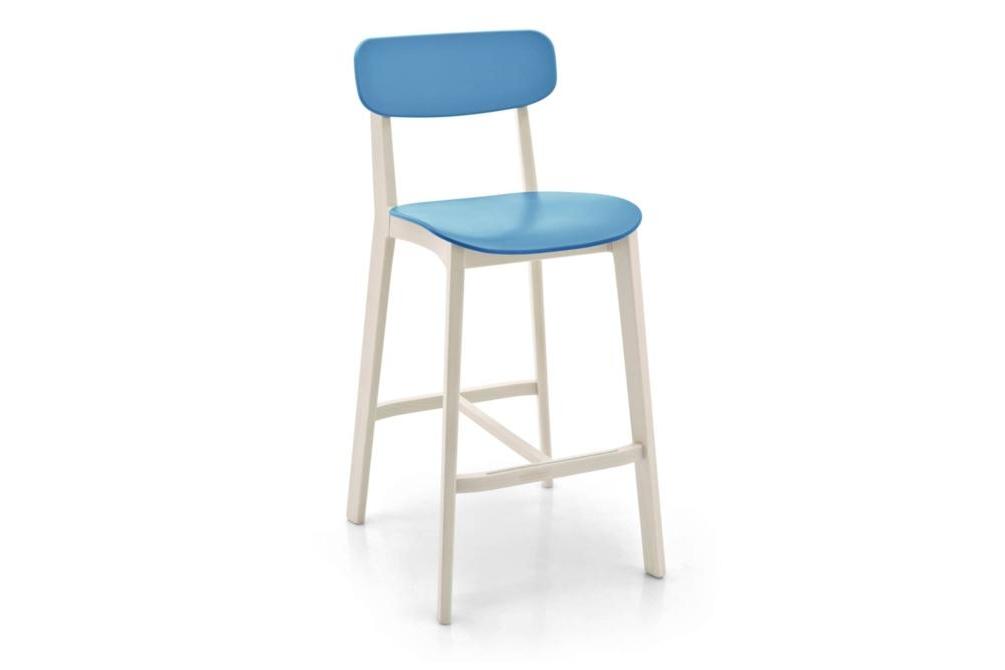 cream stool blue front Calligaris cream stools, Sextans lamp