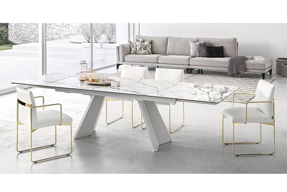 Icaro%203.jpg Icaro Table_ By Calligaris_ Designed by Busetti, Garuti, Redaelli_Extension table_ Veneered wood base_ Wood or ceramic top_ Two side extension leave_ Easy mechanism Icaro%203.jpg