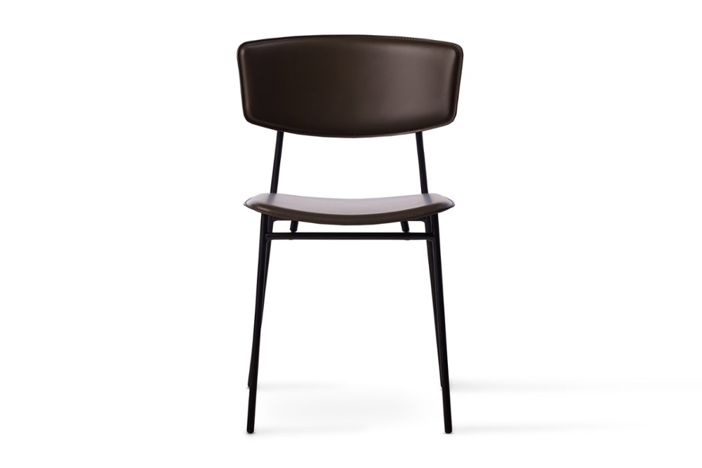CS1854 Fifties Chair Mud Brown Leather Black Frame Calligaris Front CS1854_Fifties_Chair_Mud-Brown-Leather_Black-Frame_Calligaris_Front.jpg
