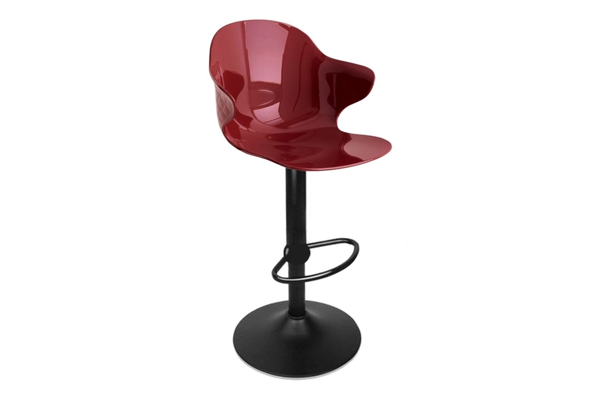 Saint Tropez Stool Oxide Red Black Gas Lift.jpg Saint Tropez Stool Oxide Red Black Gas Lift.jpg