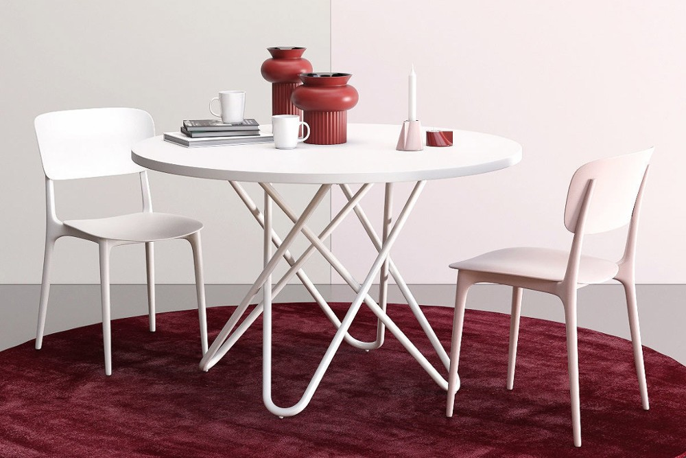 Stellar%204.jpg Stellar dining table _ By Calligaris _ Designed by Busetti Garuti Radaelli_ Made in Italy _ Fixed Round Table_ Intertwining elements in base_ Cosmic inspired_ Metal base Stellar%204.jpg
