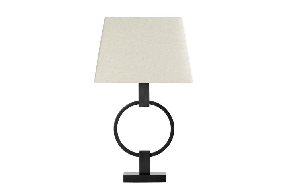 Circle Bronze Table Lamp Beige ShadeB337L Bloomingdales lamps and furniture Bloomingdales Lamps Table Floor Desk Lamps