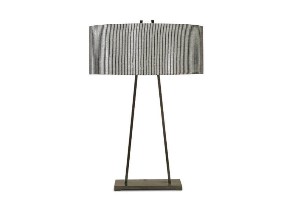 Detroit Table Lamp Charcoal Frame Mistral Grey Fabric B144L Bloomingdales lamps and furniture Bloomingdales Lamps Table Floor Desk Lamps
