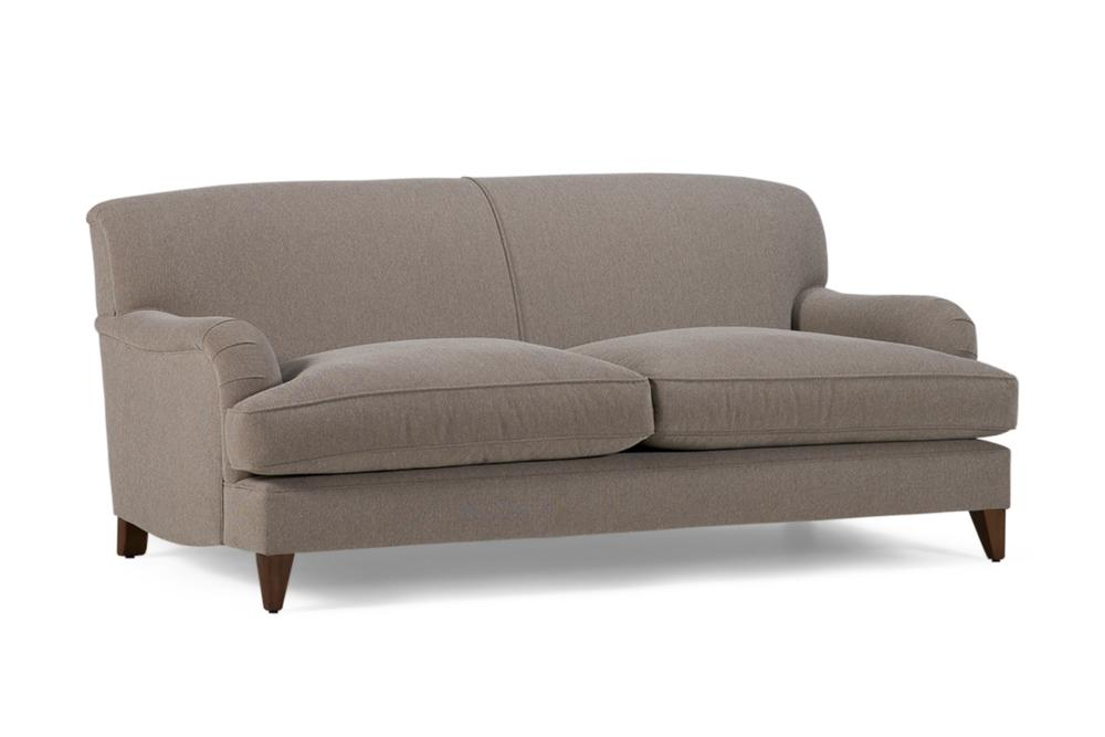 P Arm sofa Fixed Back Beige Fabric P-Arm Sofa - Cover - Made in Melbourne P-Arm Uncle Buck Fixed Back - Fabric sofa - Made in Melbourne - Best classic hamptons sofas english french