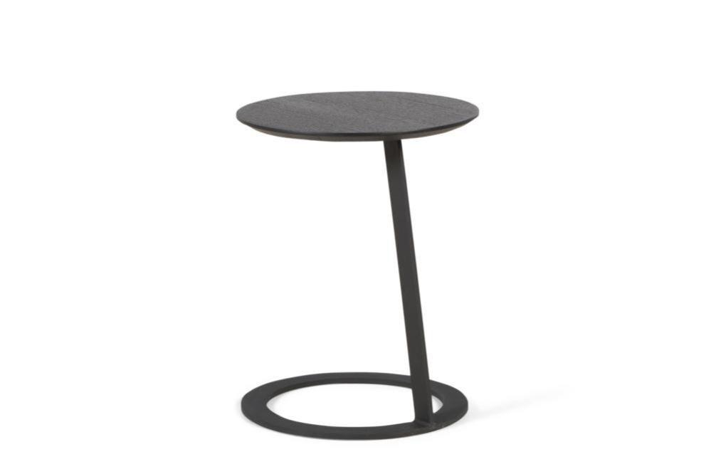 Porto Side Table Black Oak and Black Metal Base Porto Side table - Elementa - Over cushion Side table Porto Side table - Elementa - Over cushion Side table - Bring drinks closer - Better Bona
