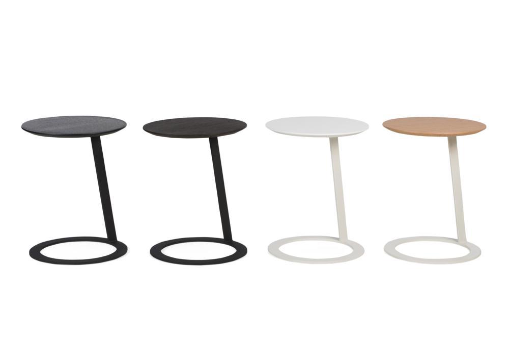 Porto Side Tables Group 4 colours Porto Side table - Elementa - Over cushion Side table Porto Side table - Elementa - Over cushion Side table - Bring drinks closer - Better Bona