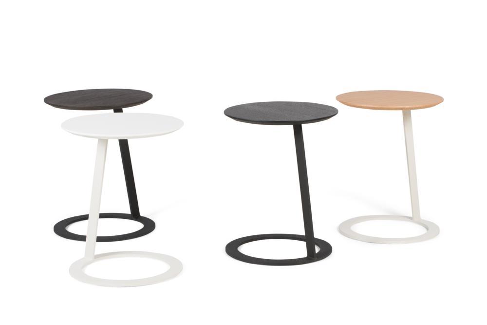 Porto Side Tables Group 2 4 colours Porto Side table - Elementa - Over cushion Side table Porto Side table - Elementa - Over cushion Side table - Bring drinks closer - Better Bona