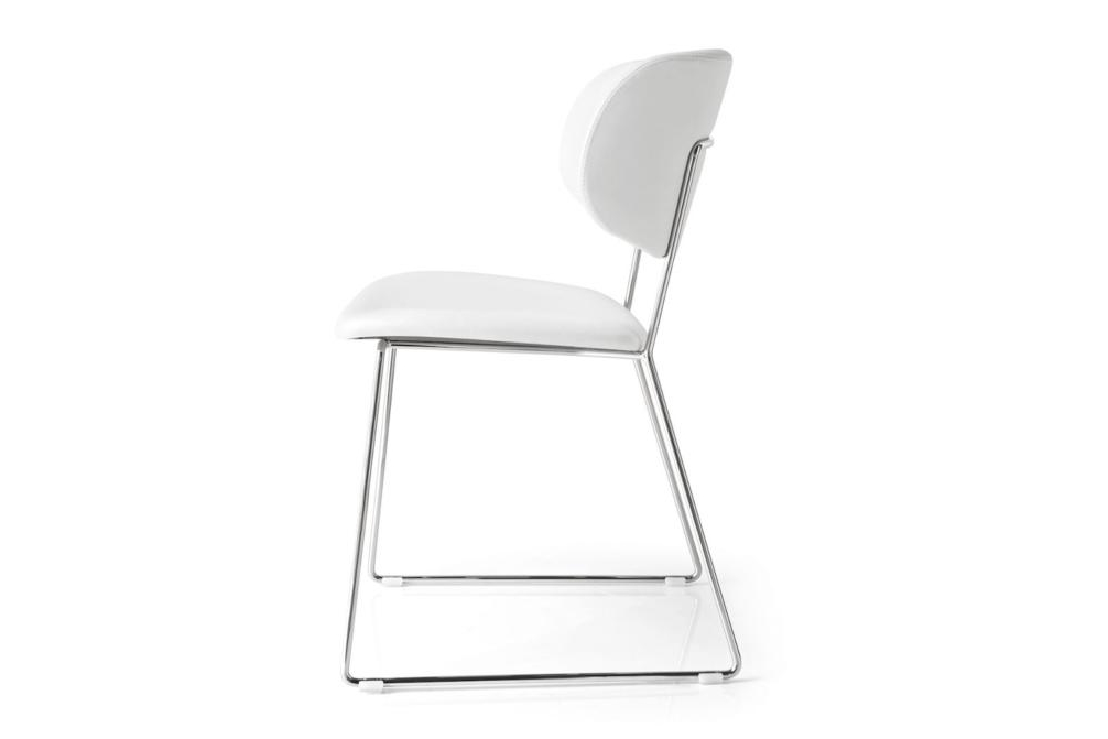 Claire Metal White Leather Calligaris Levante, Claire M Metal