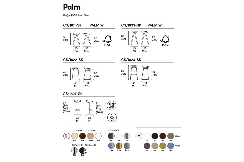 PALM STOOL Calligaris Schematics PALM-STOOL_Calligaris_Schematics.jpg 2018