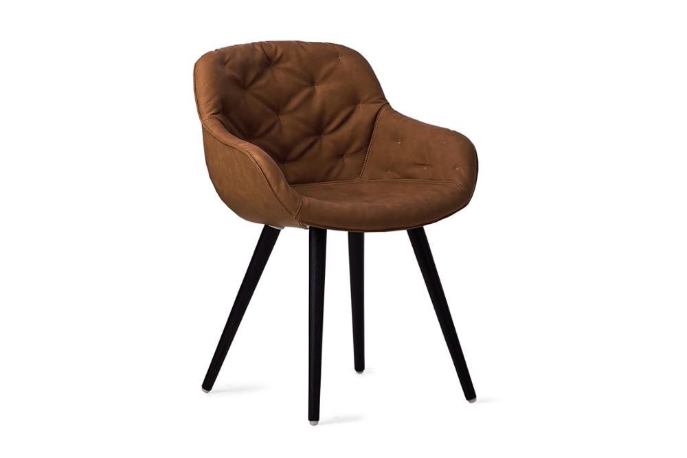 CS1841 Igloo Soft Dining Chair Ebony Vintage Black Wood Frame Calligaris Angle CS1841_Igloo_Soft_Dining_Chair_Ebony-Vintage_Black-Wood-Frame_Calligaris_Angle.jpg