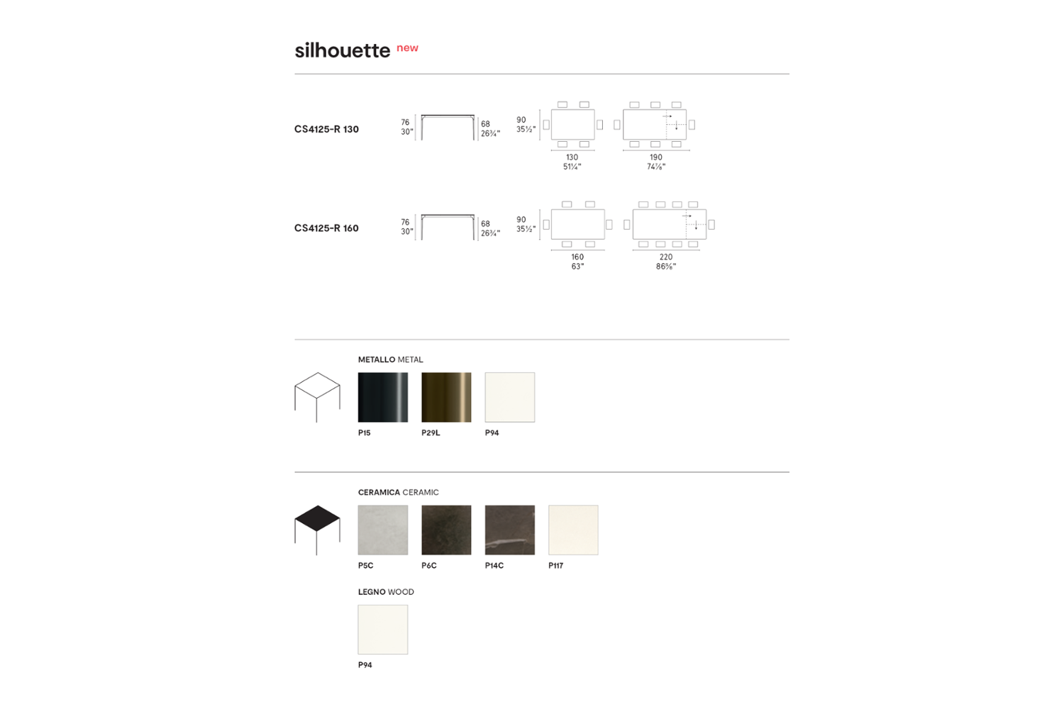 SILHOUETTE TABLE SCHEMATIC CALLIGARIS copy SILHOUETTE-TABLE SCHEMATIC CALLIGARIS copy.png CALLIGARIS DINING EXTENSION TABLES CERAMIC GLASS
