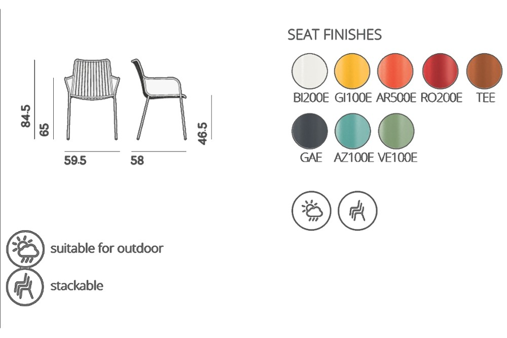 Nolita%20 %203656%20 %20spec%20sheet.JPG Nolita carver chair_ DESIGN:CMP DESIGN_outdoor seatings_ metal garden chairs_Armchair with high backrest_completely made of steel and designed specifically for outdoor use. Stackable. A seat cushion is also available. Nolita%20 %203656%20 %20spec%20sheet.JPG