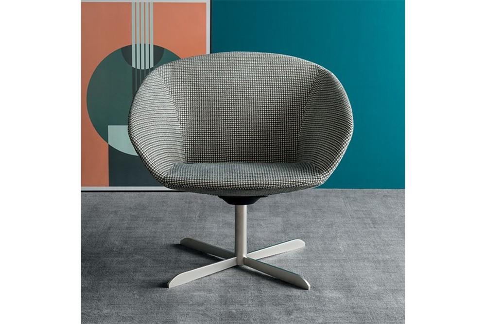 Love%20armchair%203.jpg ove armchair_ By Calligaris_ Designed by Radice Orlandini_Blue Fabric_ Black base_ Swivel_ Love%20armchair%203.jpg