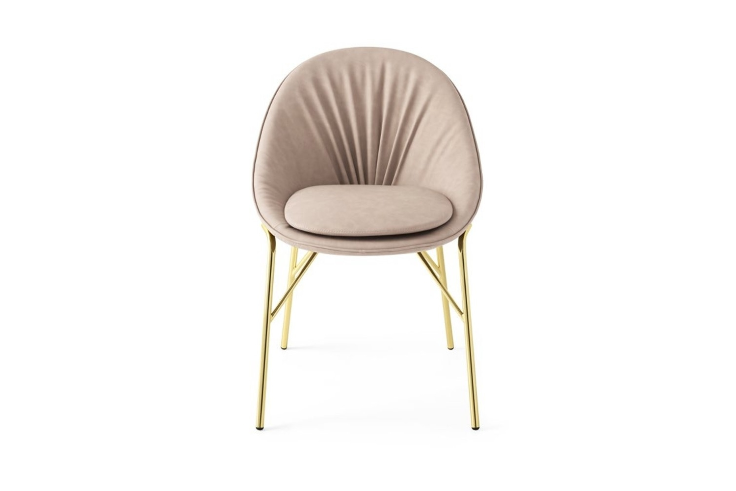 Lilly Dining Chair Taupe Leather with Polished brass legs Lilly Dining Chair Taupe Leather with Polished brass legs Lilly Dining Chair Taupe Leather with Polished brass legs