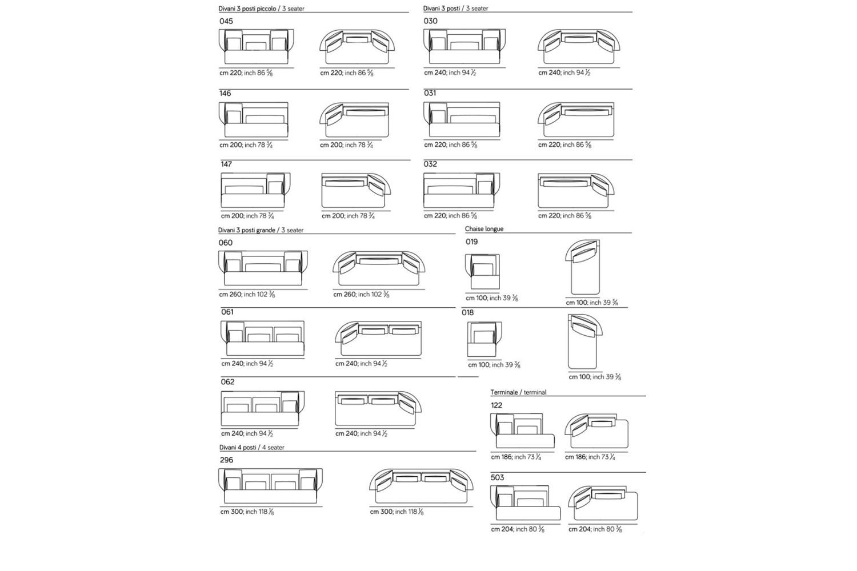 Wazaa new spec sheet 2 Wazaa new spec sheet 2.jpg Wazaa Sofa%5F By Amura%5F Designed by Stefano Bigi%5FInformal Modular options%5F Sinewy Lines%5F Fifties taste%5F Leather or fabric options