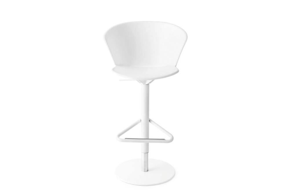 Bhaia Stool GasLift White Calligaris Stools, Bahia, Palm bahia, palm, stool