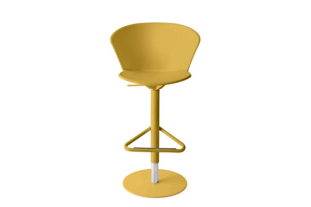 Bhaia Stool GasLift Mustard Calligaris Stools, Bahia, Palm bahia, palm, stool