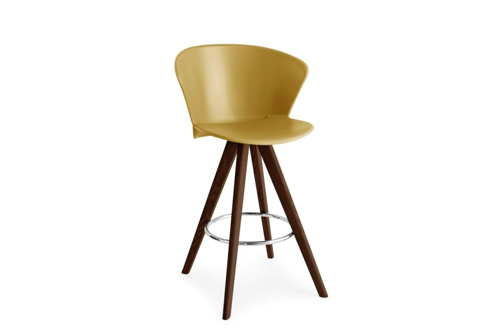 Bhaia Stool Wood Walnut Mustard Calligaris Stools, Bahia, Palm bahia, palm, stool