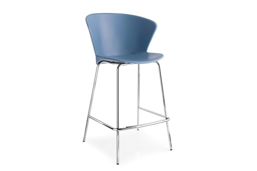 Bhaia Stool Chrome SkyBlue Calligaris Stools, Bahia, Palm bahia, palm, stool