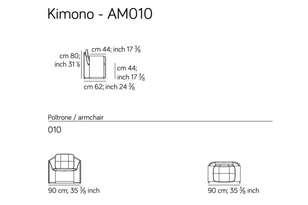 Kimono Armchair spec sheet Kimono Armchair spec sheet.JPG Kimono%5F By Amura%5F Designed by Quaglio %26 Simonelli%5FTubular metal structure%5FCuoio coverage%5FVersatile%5F
