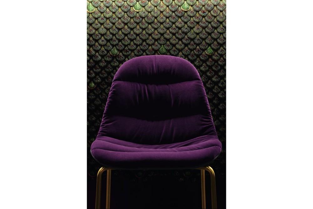 mood 34 09r m325 z005 tve03 2 mood_34-09r_m325_z005_tve03_2.jpg Mood Covered 4 Leg Metal Chair by Bontempi Casa