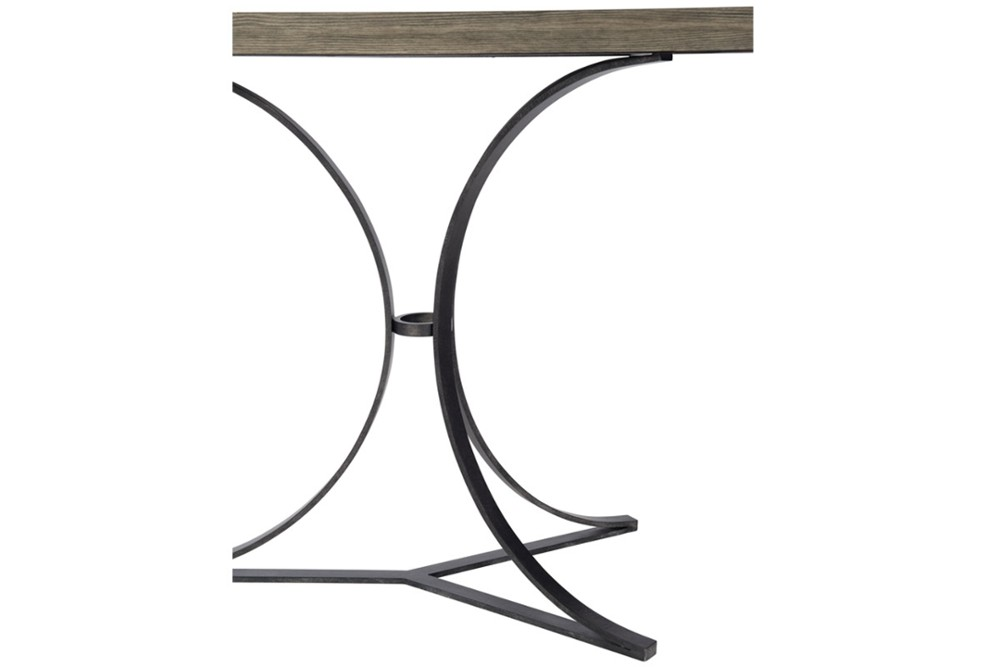 Canyon Ridge console 5 Canyon Ridge console 5.jpg By Bernhardt%5FWire Brushed Wood Top%5FOpen metal base in Blackened Bronze finish%5F