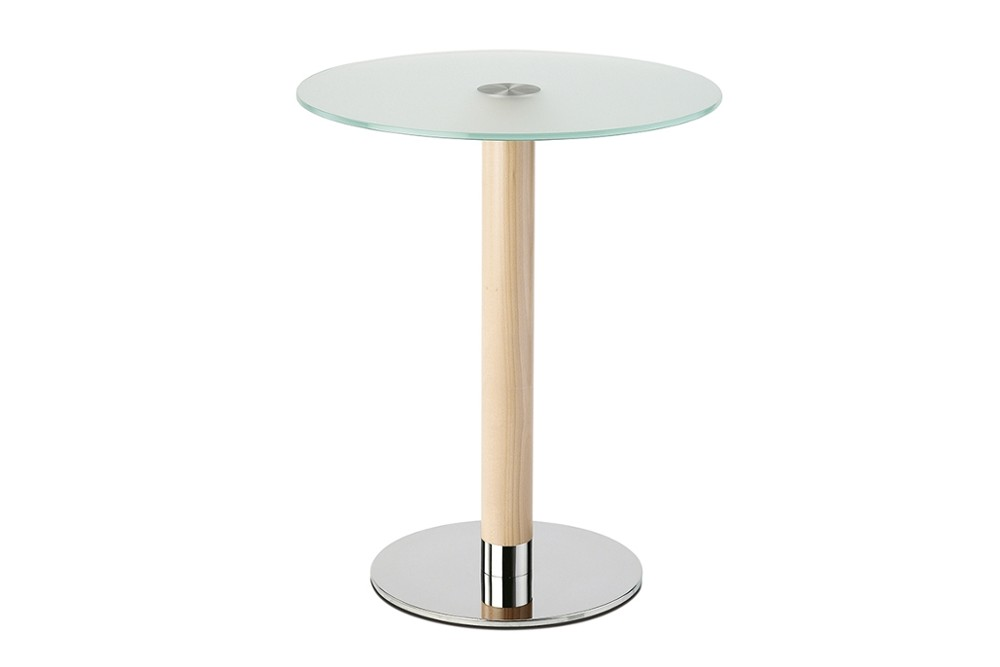 Inox%204401 5.jpg INOX round 4401_DESIGN:PEDRALI R&D_polished stainless steel base with Ø50 mm column. Tempered glass top. Height 730 mm. Top max D700 Inox%204401 5.jpg