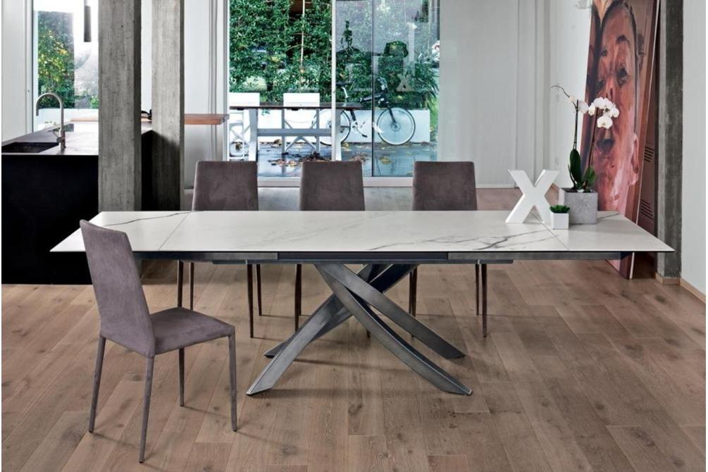 Artistico Extension Table Ceramic Top Bon Tempi Casa Tables