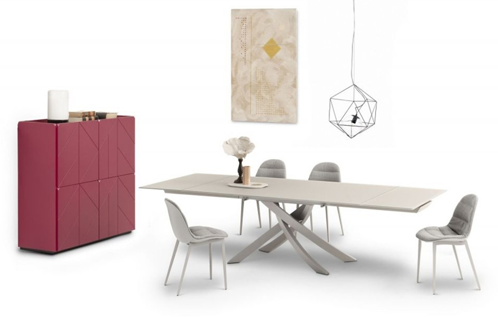 Pica%201.jpg Pica sideboard _Bontempi casa_Wooden sideboard with two hinged doors, inside clear glass shelf, side panels and doors in veneer wood, top to choose. Frame and feet in lacquered metal. Pica%201.jpg