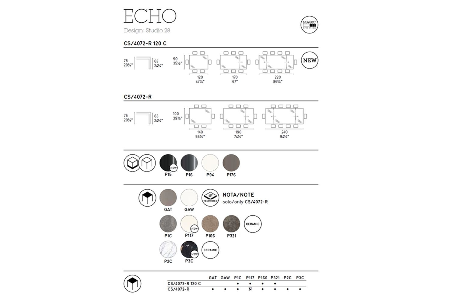 Echo Extension Table Calligaris cs4072 Schematics Calligaris Schematic Diagrams Schematics