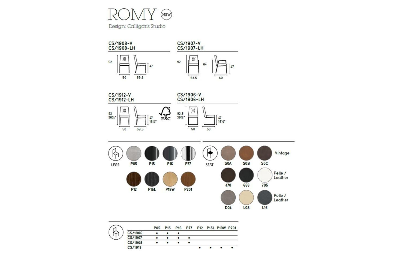 Romy Dining Chair Calligaris cs1908 Schematics Calligaris Schematic Diagrams Schematics