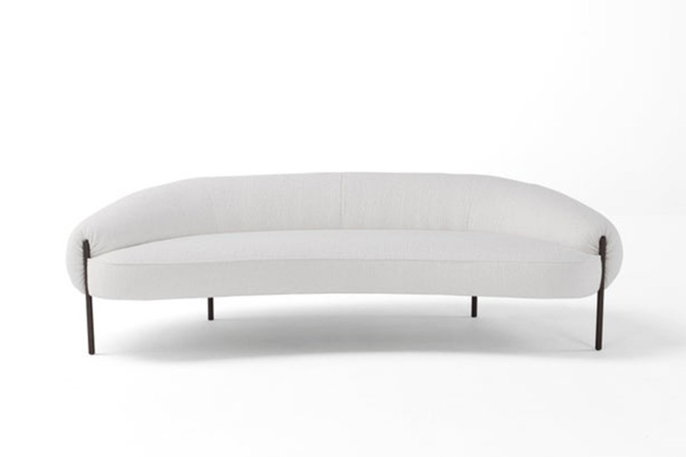 Isola%201.jpg Isola Sofa_ By Amura_ Created in collaboration between Amura, Lucy Kurrein and Heal's_Rounded Sofa_voluptuous, sculptural form_organic_luxury memory foam_metal legs in gun metal black Isola%201.jpg