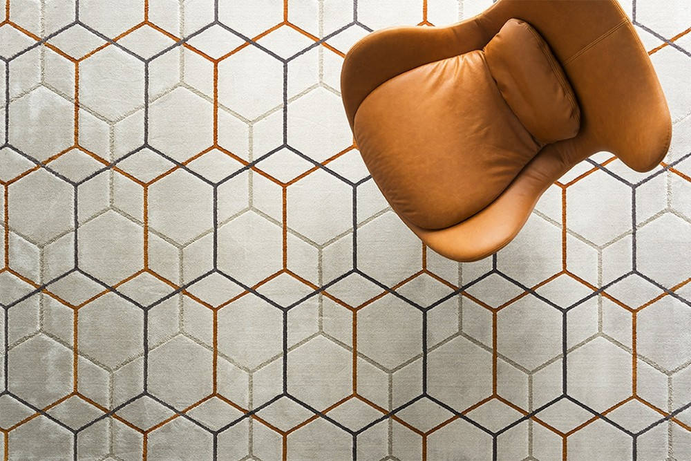 Offset%202.jpg Offset Rug_ By Calligaris_ Made in Italy_ Designed by Brogliato Traverso_Series of intersecting Lines_Multiple overlapping layers_ Hexagonal pattern Offset%202.jpg