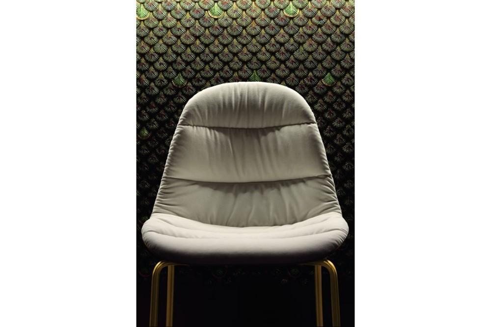 mood 34 09r m325 z006 tve01 2 mood_34-09r_m325_z006_tve01_2.jpg Mood Covered 4 Leg Metal Chair by Bontempi Casa