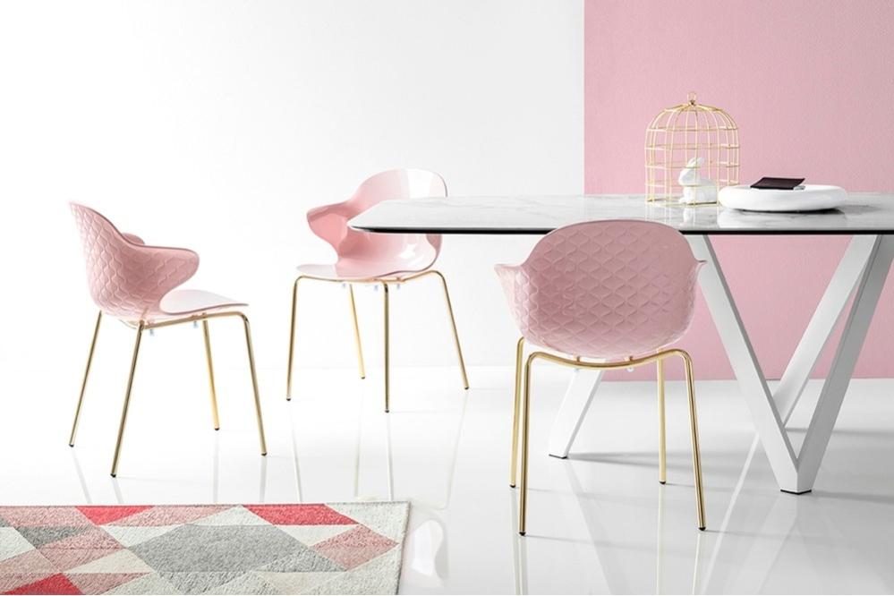 Saint Tropez CS1845 METAL Polished Brass PLASTIC Glossy Pale Pink cs4092 EC Matt Optic White LAMINATED CERAMIC White Marble Chair Setting WEB Saint_Tropez_CS1845_METAL_Polished_Brass_PLASTIC_Glossy_Pale_Pink_cs4092-EC_Matt_Optic_White_LAMINATED_CERAMIC_White_Marble_Chair_Setting_WEB.jpg Calligaris